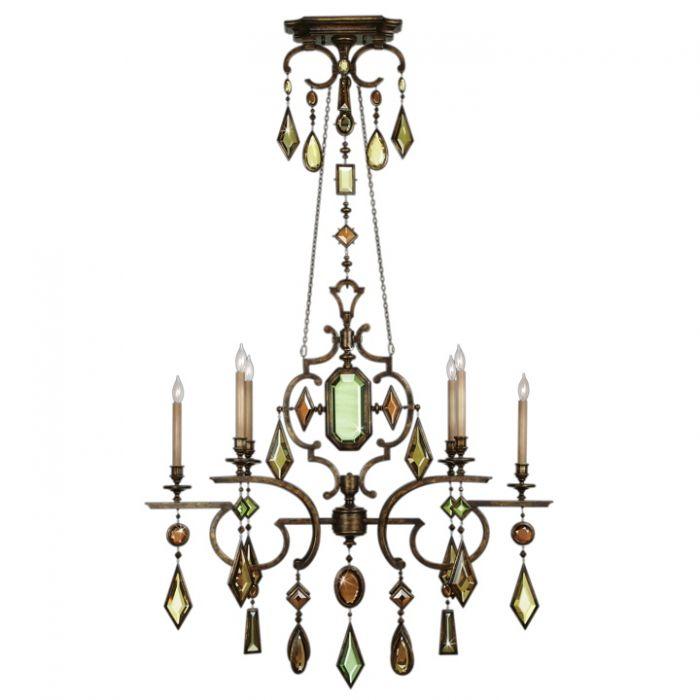 Fine Art Lamps Encased Gems Chandelier Fal 708940